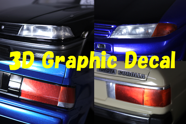 3D Graphic Decal headlight [VGP-604] / 3D Graphic Decal tail light [VGP-605]