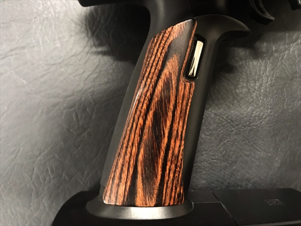 Wood grip for propo FUTABA 7PX [Smooth / Brown]
