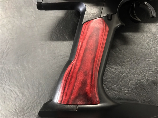 Wood grip for propo SANWA M12/M12S [Smooth / Red]