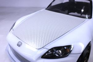 3D Carbon Style Decal<silver>