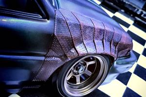3D Checkered steel plate Decal