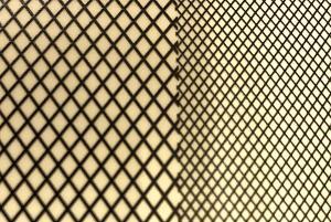 3D Cross Mesh Decal (Black)